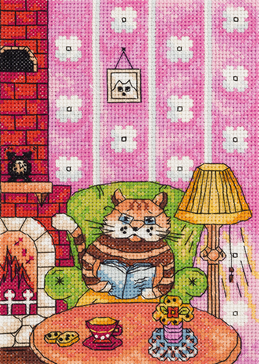 Embroidery kits PANNA 8-217 A Learned Cat