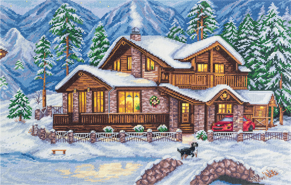 Embroidery kits PANNA Golden Series PS-1990 Mountain Chalet