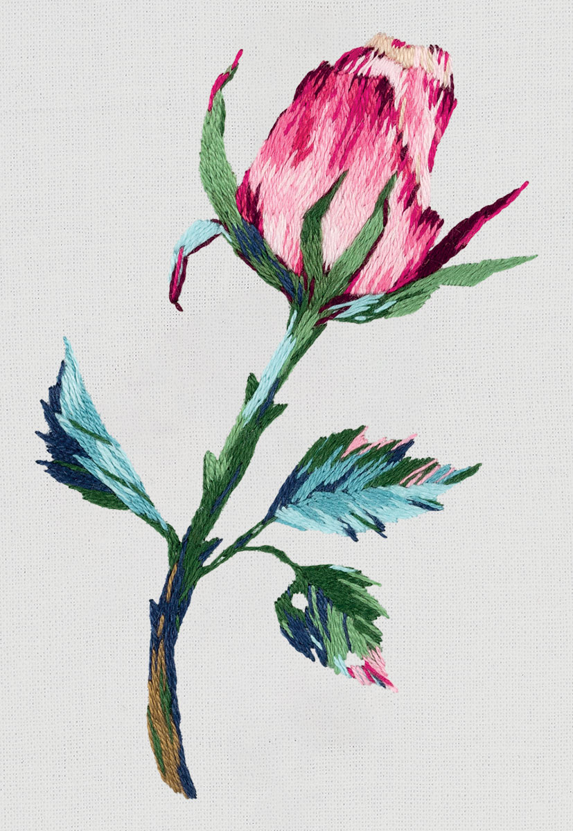 Embroidery kits PANNA Living Picture JK-2196 Pink Flower Bud