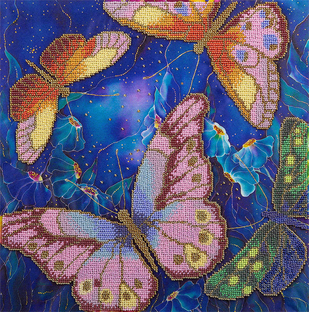 Embroidery kits PANNA BN-5015 Butterflies among Nocturnal Flowers