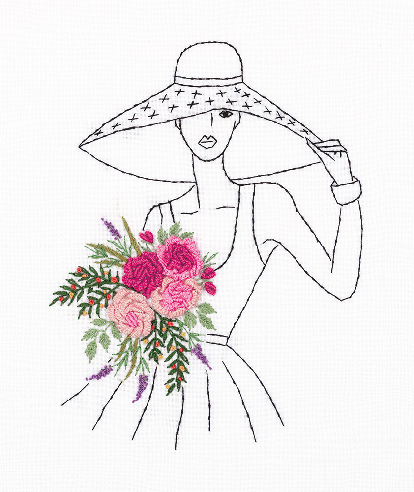 Embroidery kits PANNA Living Picture JK-2171 Lady in a Hat