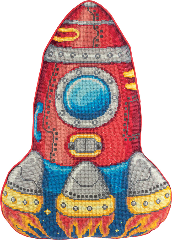 Embroidery kits PANNA PD-7013 Rocket (Cushion Front)