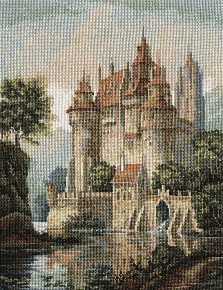 Embroidery kits PANNA Golden Series ZU-1280 Castle in the Mountains