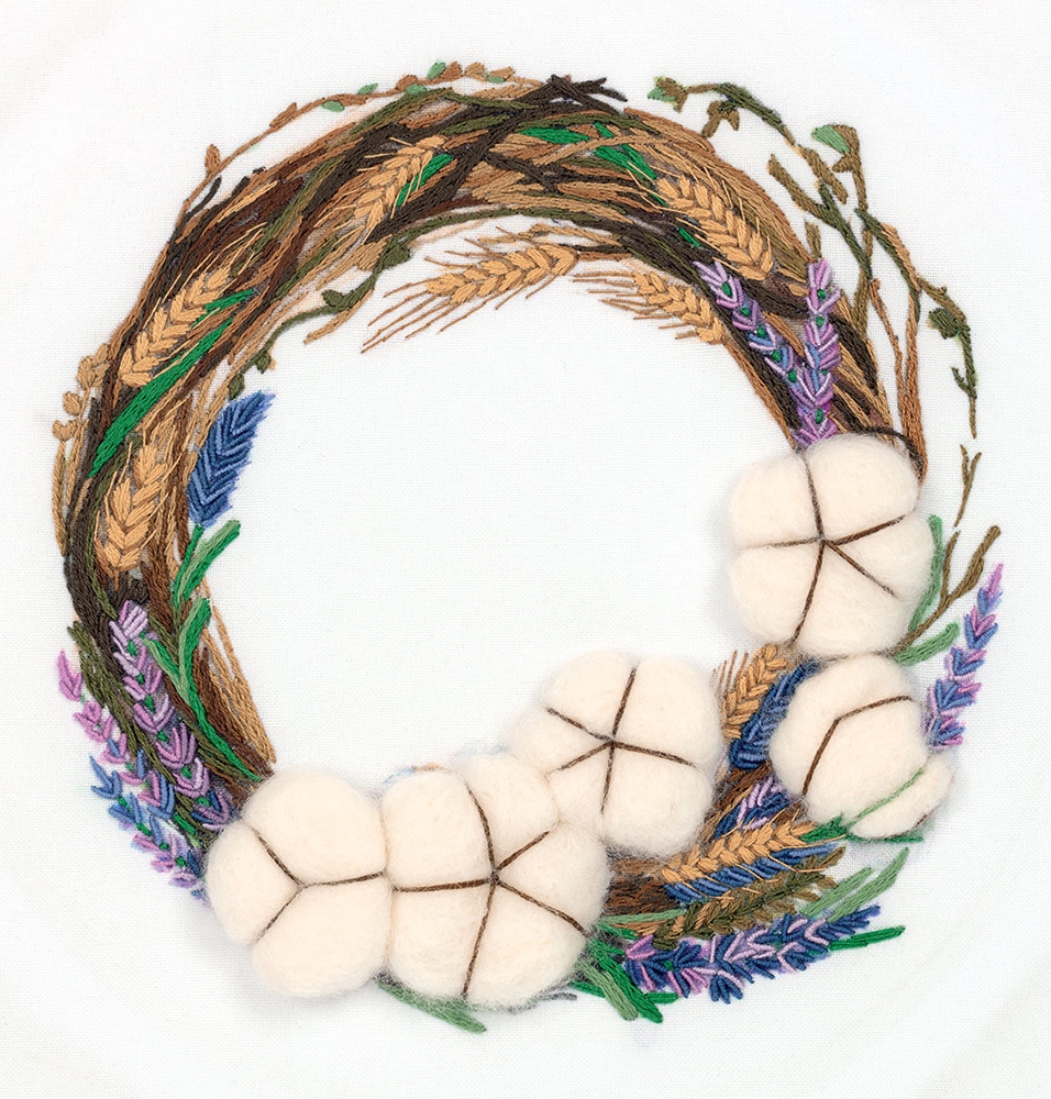 Embroidery kits PANNA Living Picture JK-2170 Cotton Wreath