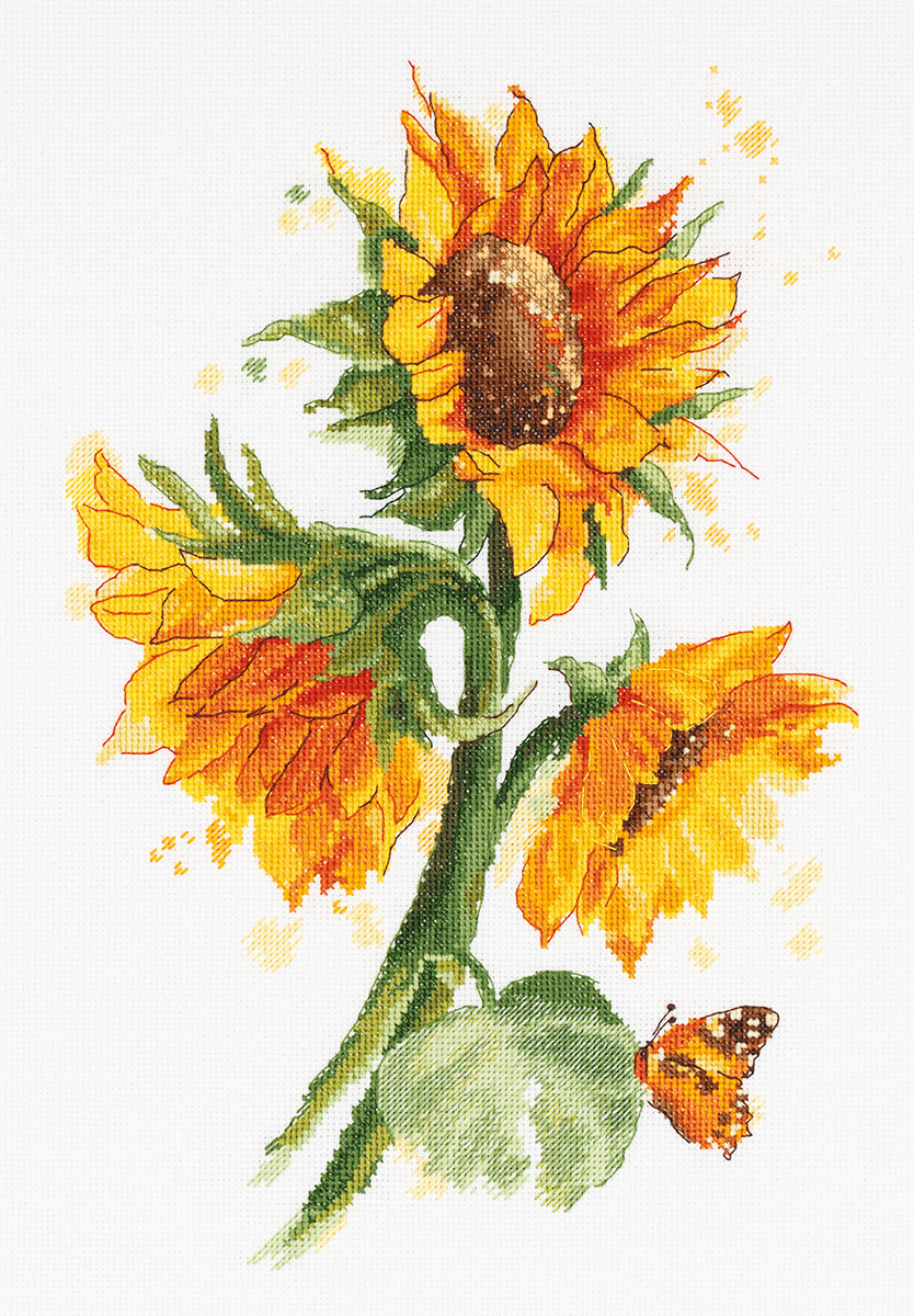 Embroidery kits PANNA C-7136  Bright Sunflowers