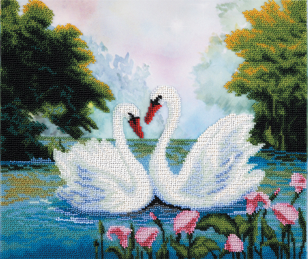 Embroidery kits PANNA BN-5029 Swans on a Pond