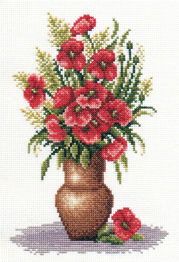Embroidery kits PANNA C-0151 Poppy Bunch