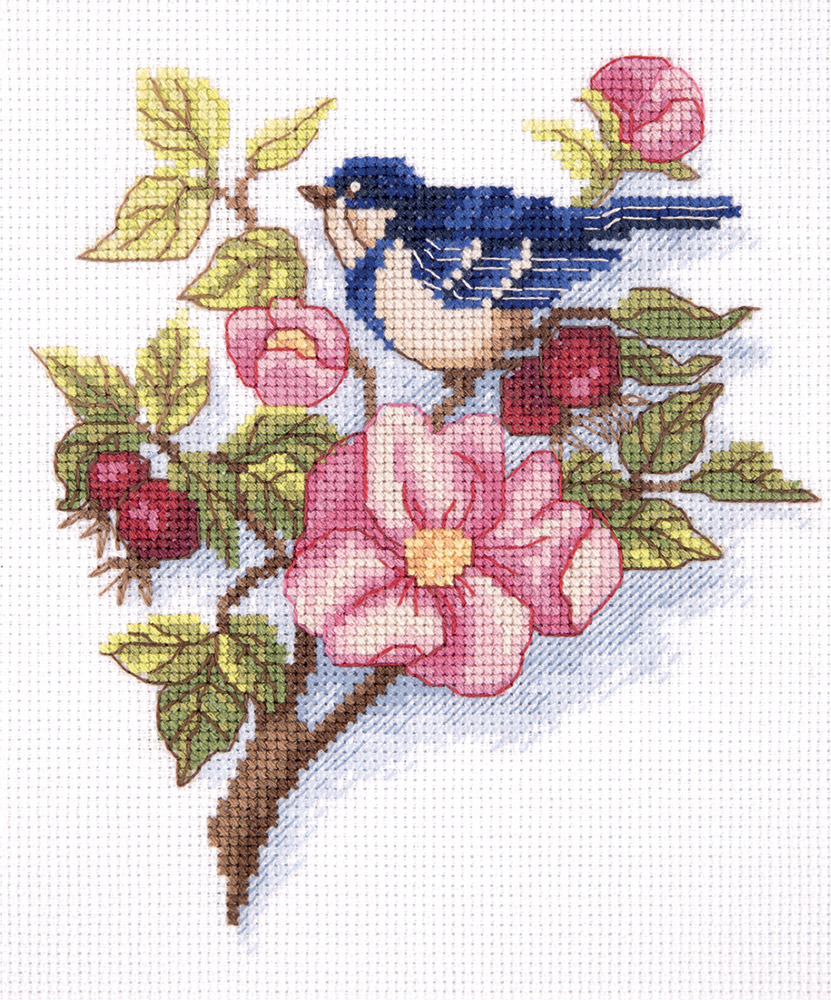 Embroidery kits PANNA 8-247 Wild Rose Branch