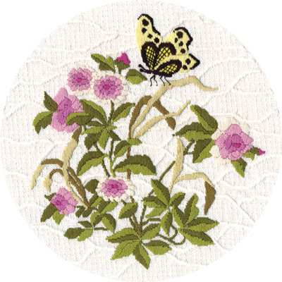 Embroidery kits PANNA C-1310 Garden Butterfly