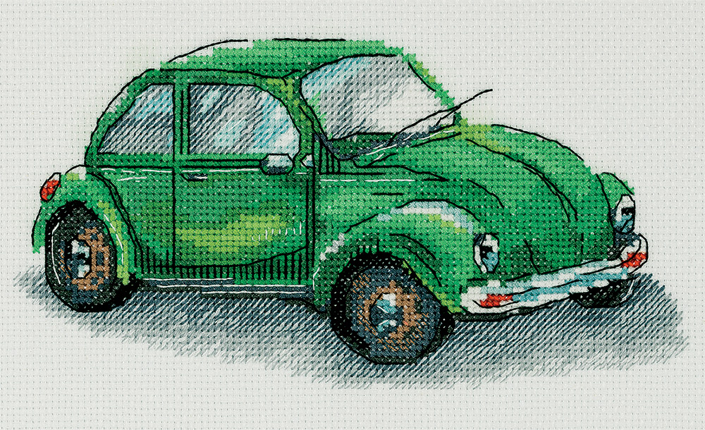 Embroidery kits PANNA M-7092 Green Car
