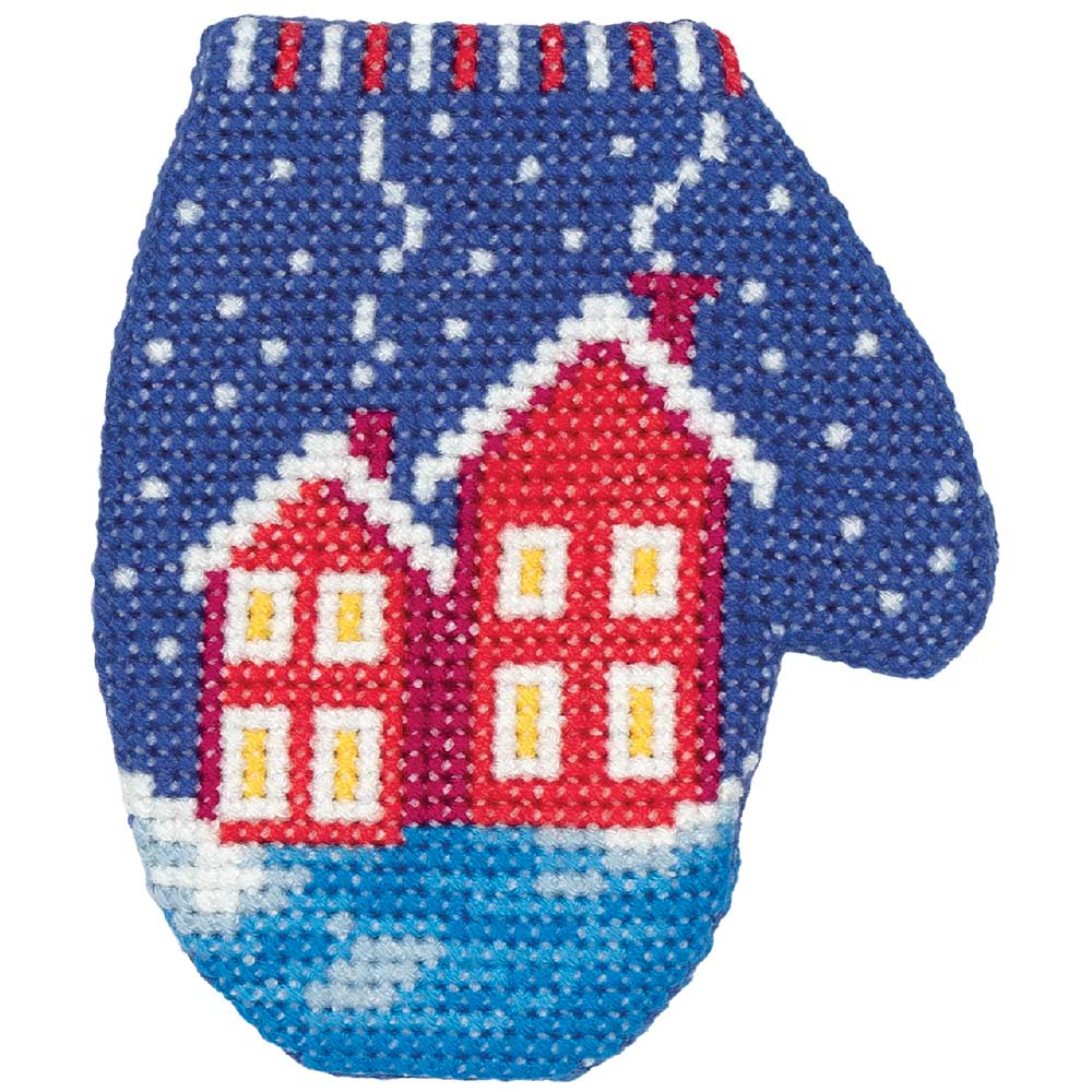 Embroidery kits PANNA 8-392 Houses Mitten