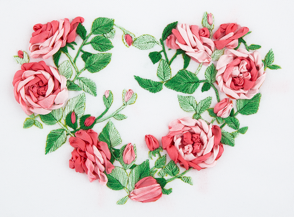 Embroidery kits PANNA Living Picture JK-2114 Rose Heart