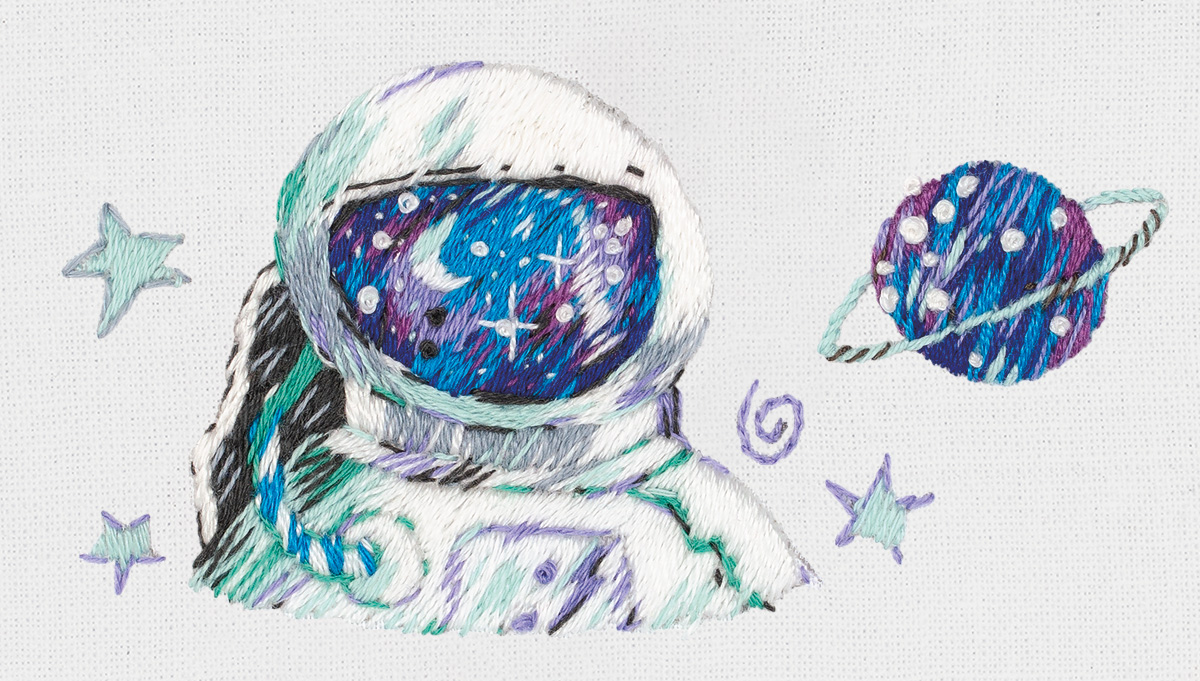Embroidery kits PANNA Living Picture JK-2209 Astronaut