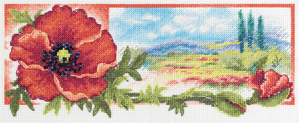 Embroidery kits PANNA C-7038 The Red Hue of Dawn
