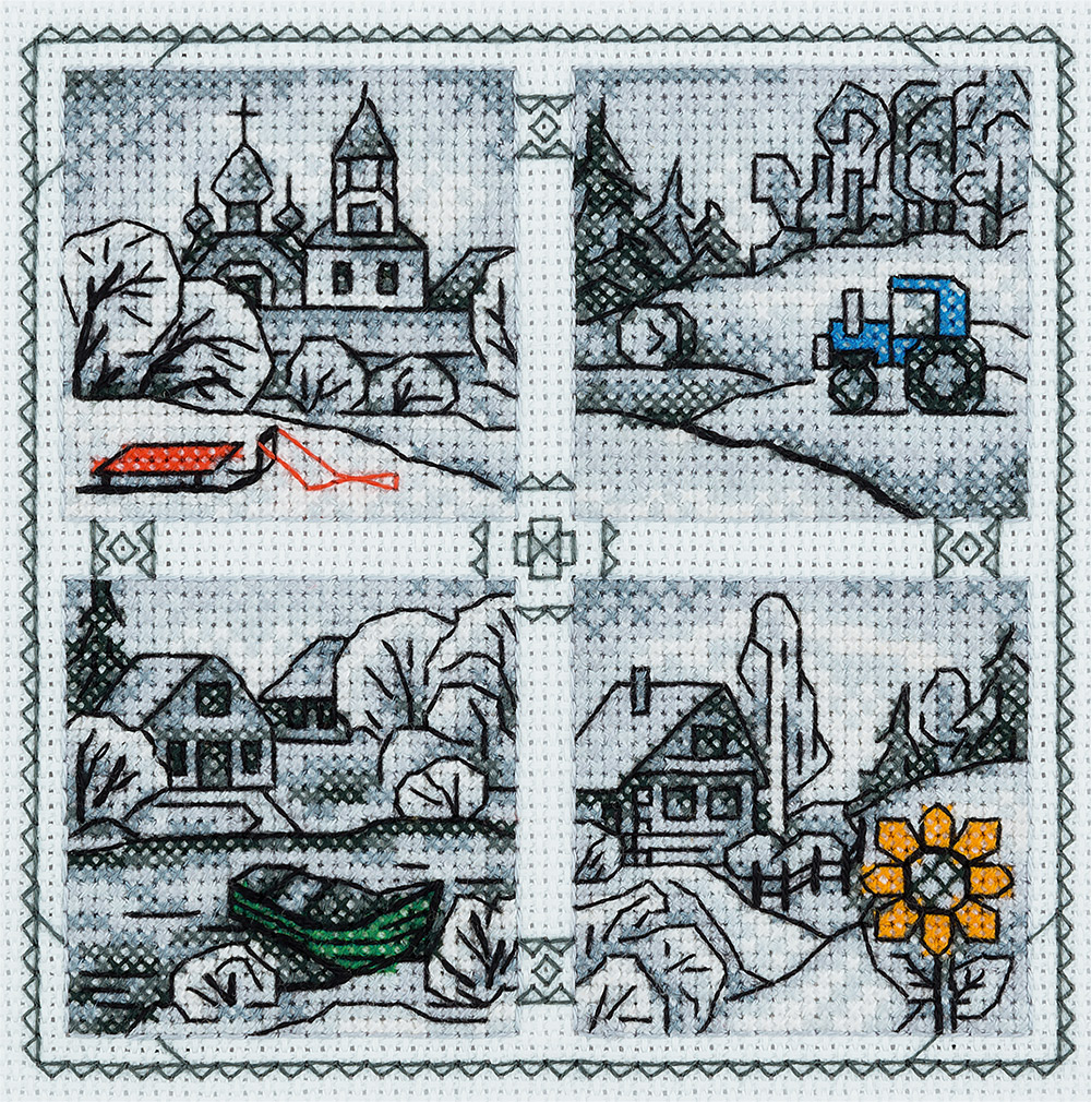 Embroidery kits PANNA DE-1917 Miniatures. Countryside