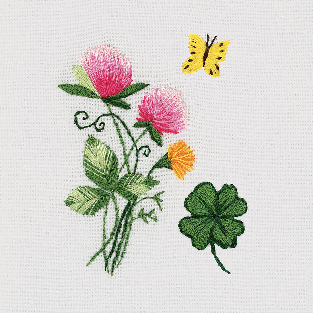 Embroidery kits PANNA Living Picture JK-2182 Small Bunch of Clovers