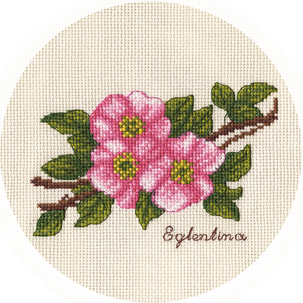 Embroidery kits PANNA C-1811 Small Branch of Wild Rose