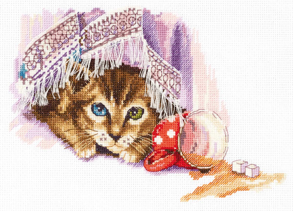 Embroidery kits PANNA J-7120 Naughty Cat