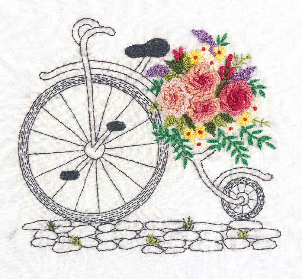 Embroidery kits PANNA Living Picture JK-2139 A Bouquet on Wheels