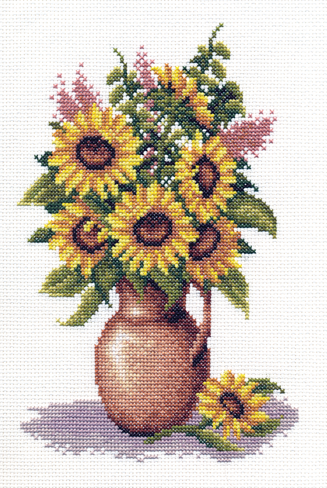 Embroidery kits PANNA C-0153 Sunflower Bunch
