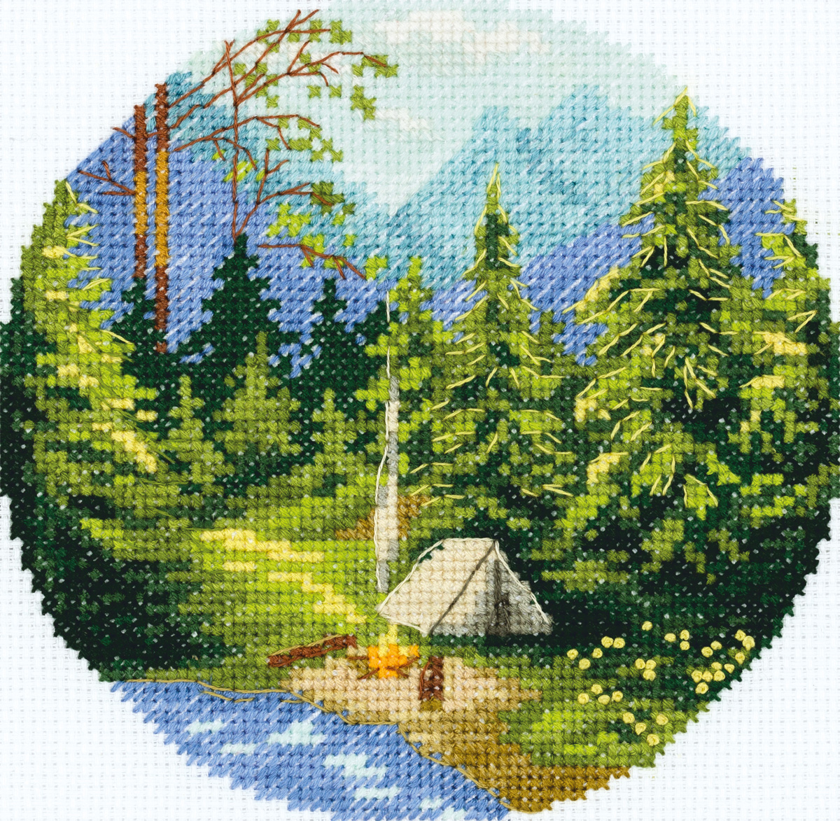 Embroidery kits PANNA PS-7075 Morning in the Forest