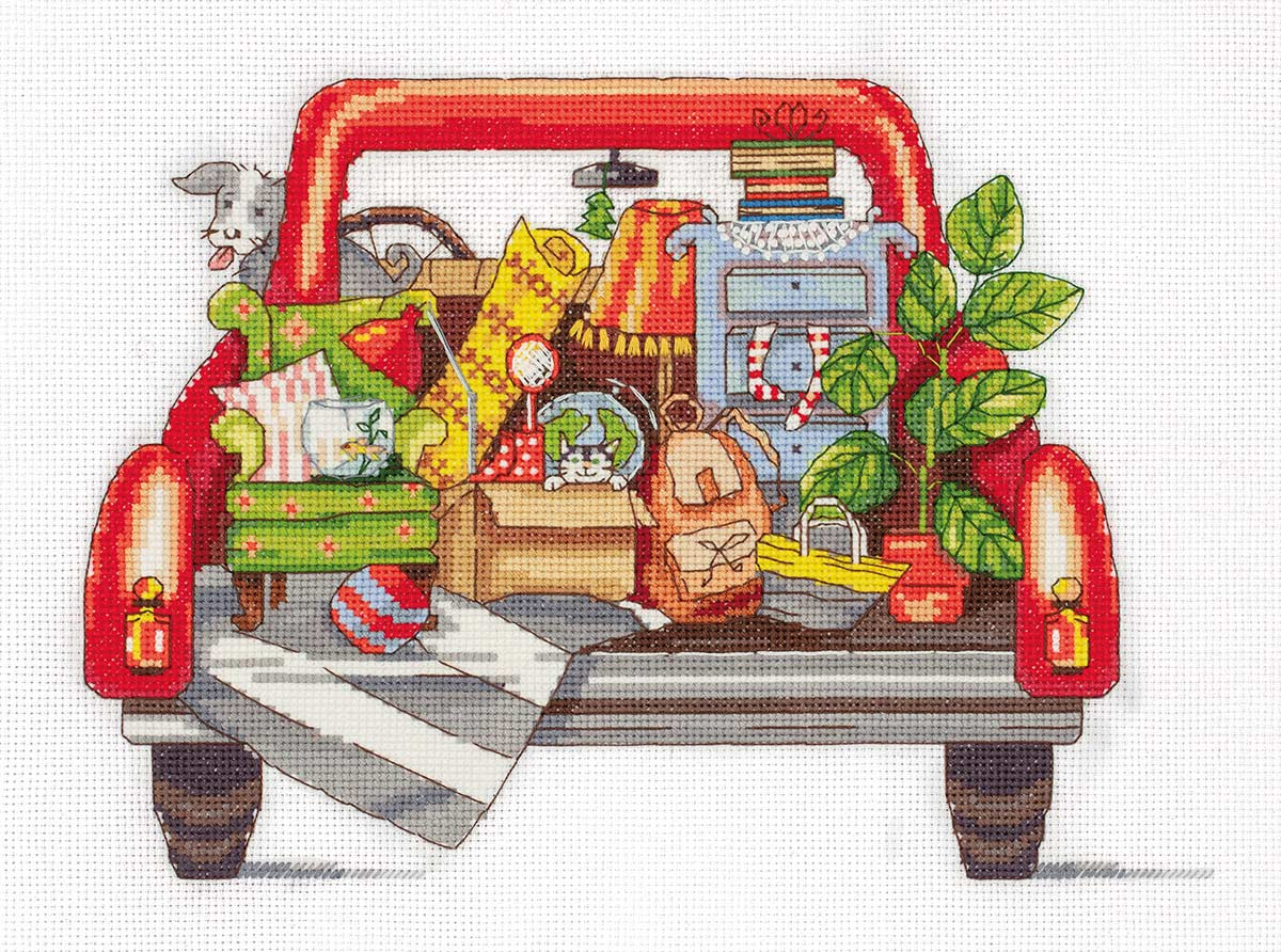 Embroidery kits PANNA M-7113 House Moving
