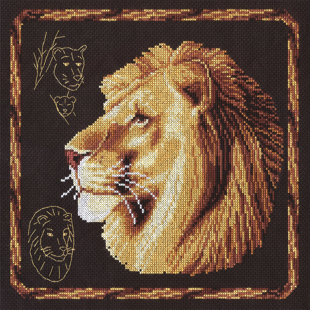 Embroidery kits PANNA J-0169 Lion