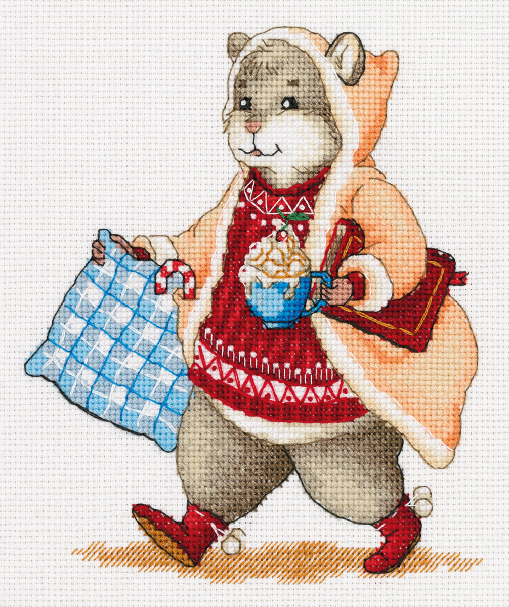 Embroidery kits PANNA J-7138 Hamster and Cocoa
