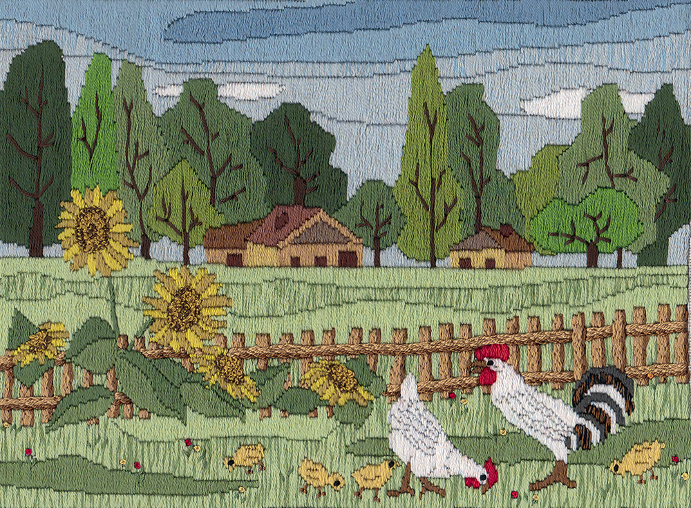 Embroidery kits PANNA PS-1346 Country Summer