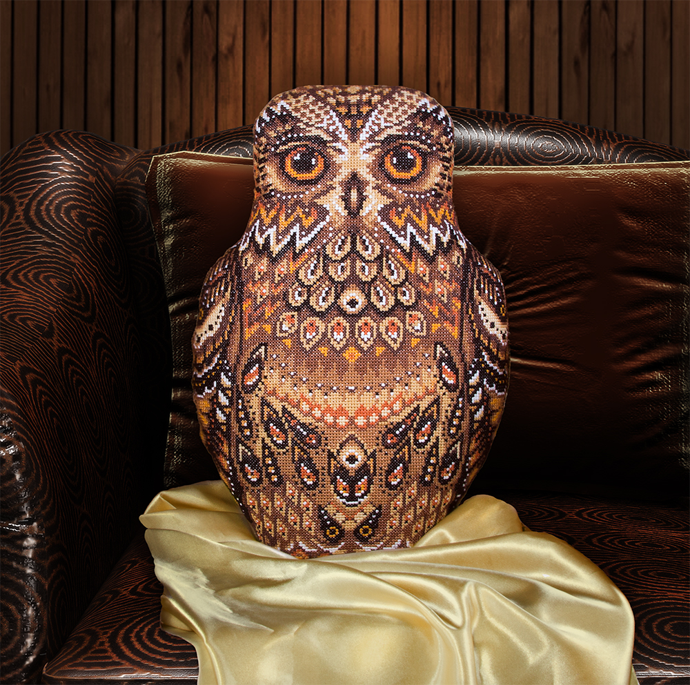Embroidery kits PANNA PD-1489 Owl (Cushion Front)