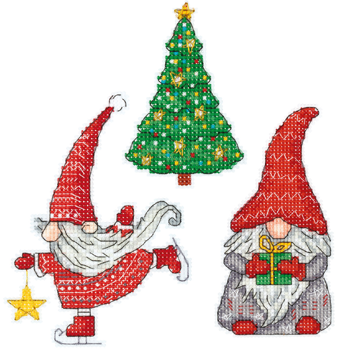 Embroidery kits PANNA IG-7179 New Year Gnomes