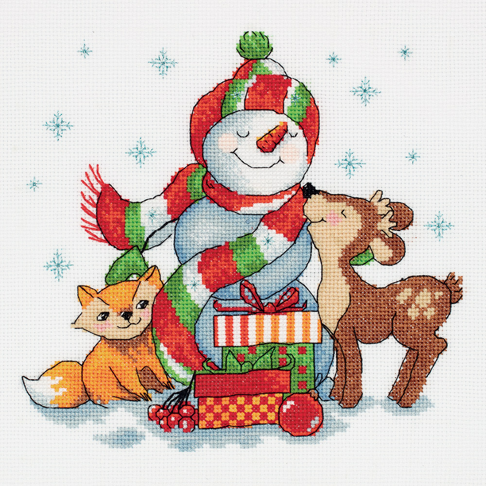 Embroidery kits PANNA 8-292 Snowman with Gifts
