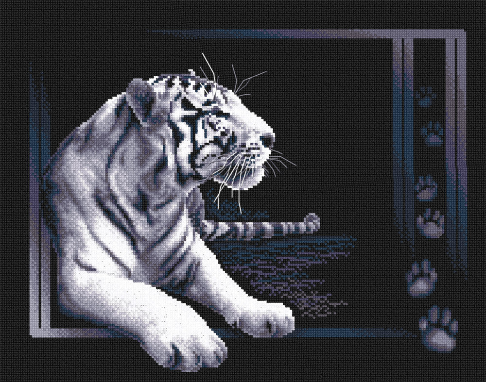 Embroidery kits PANNA J-0277 White Tiger