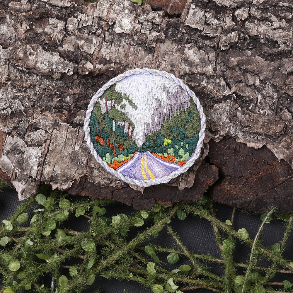 Embroidery kits PANNA Living Picture JK-2186 Forest Road Brooch