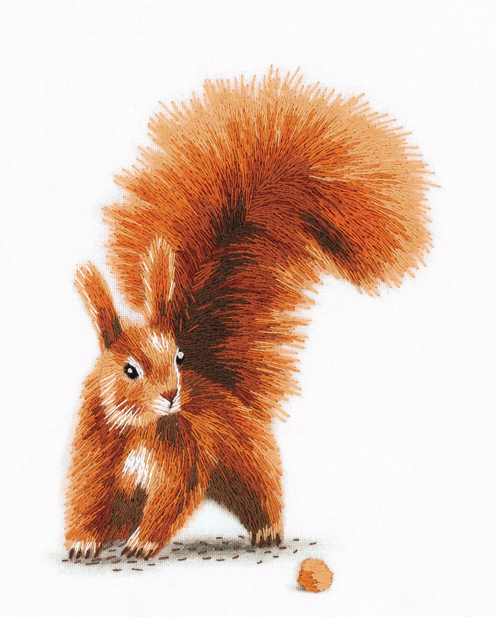 Embroidery kits PANNA Living Picture JK-2176 Squirrel with a Nut