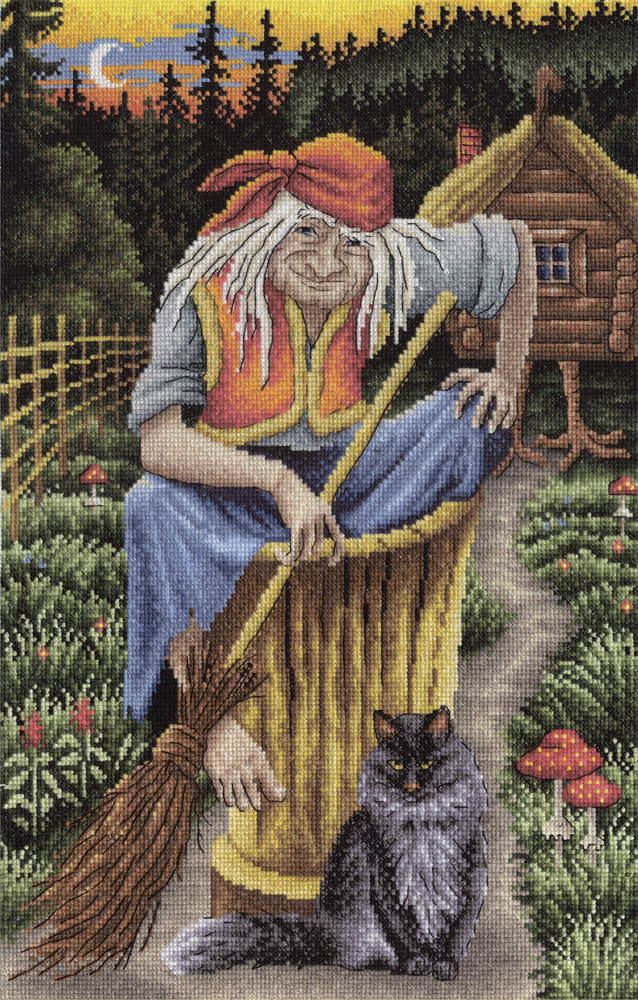 Embroidery kits PANNA Golden Series VS-0801 Baba Yaga