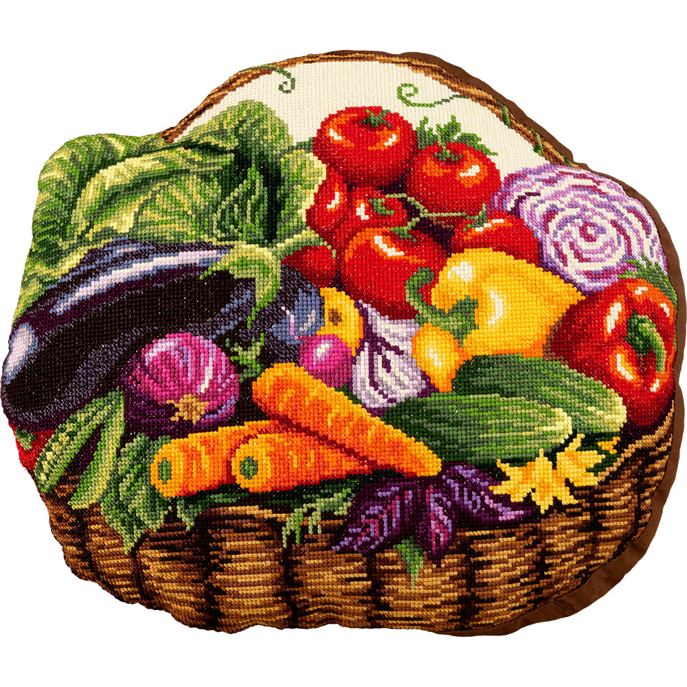 Embroidery kits PANNA PD-7012 Vegetable Basket Cushion Front