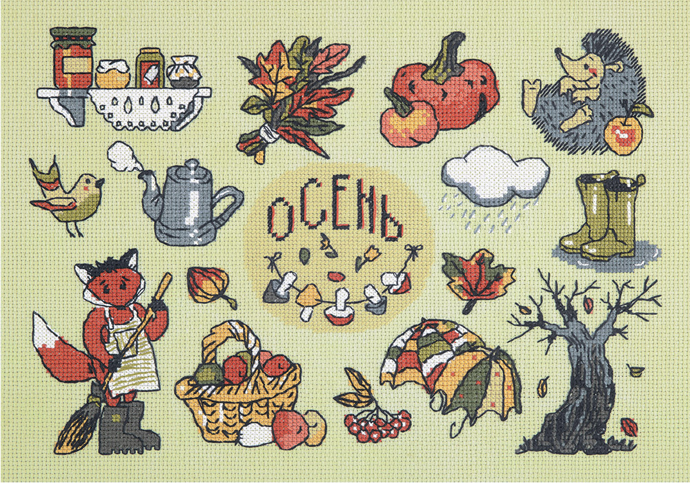 Embroidery kits PANNA CE-1974 Autumn in your Pocket