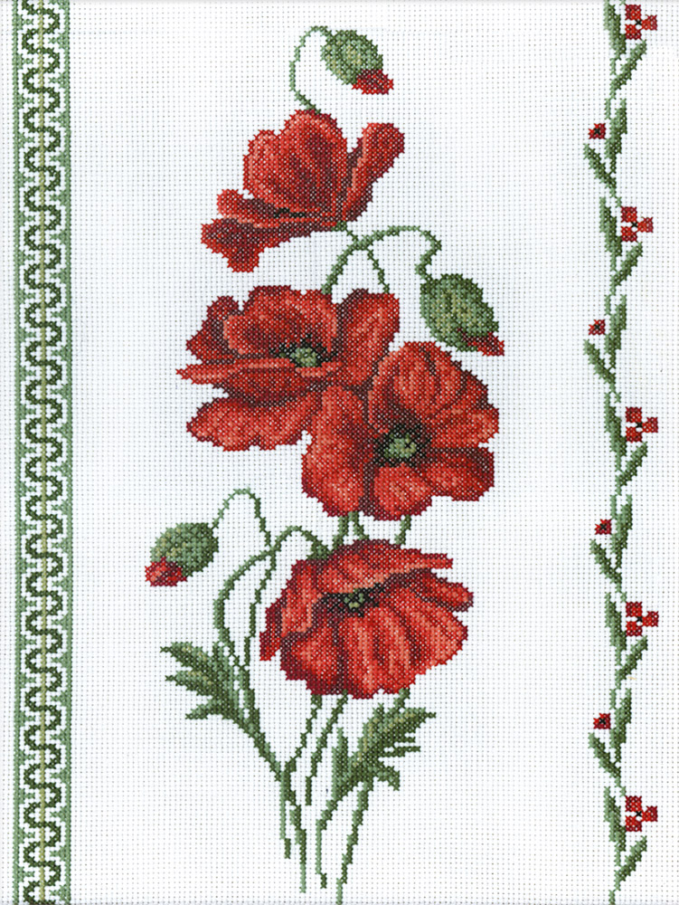 Embroidery kits PANNA C-0189 Poppies