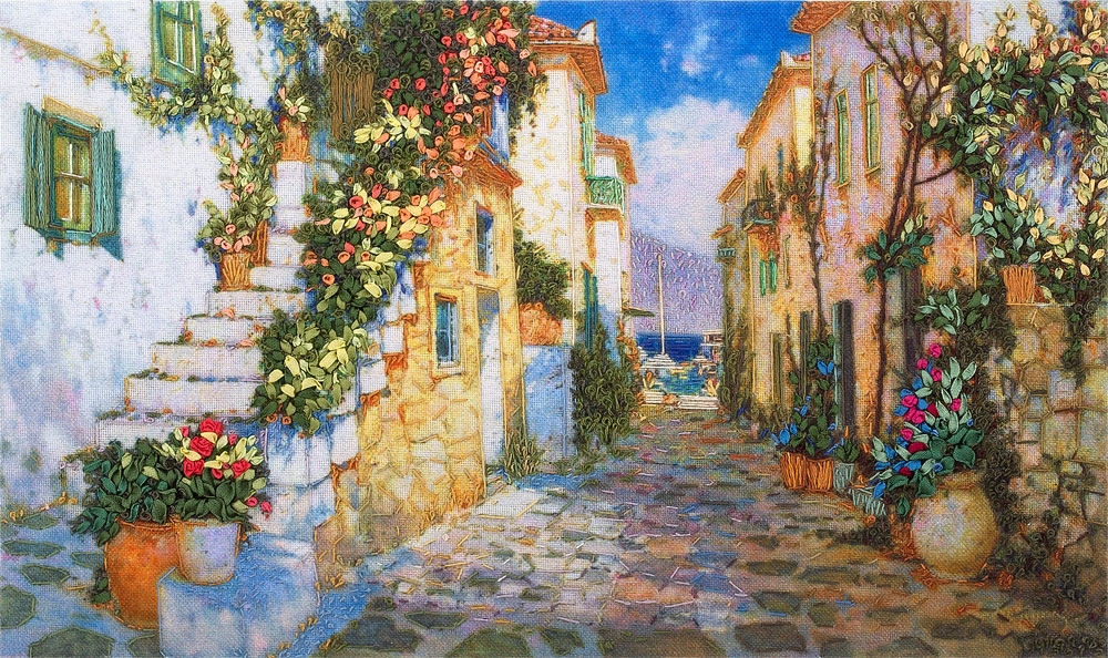 Embroidery kits PANNA Living Picture JK-2015 Street Leading to the Sea