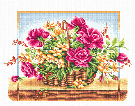 Embroidery kits PANNA C-0114 A Basket of Roses