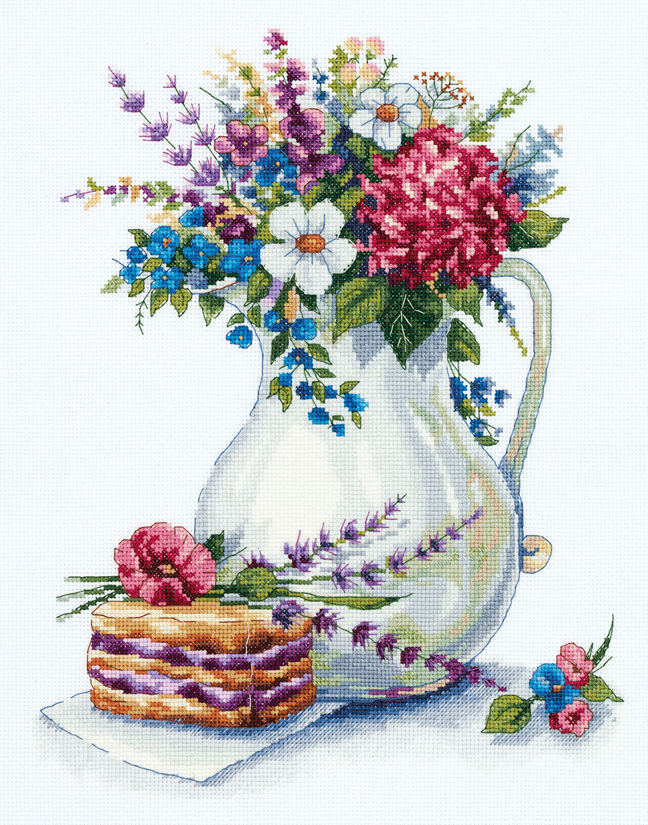 """/""""Spring Flowers/"""" Counted Cross Stitch Kit PANNA PD-1916"""