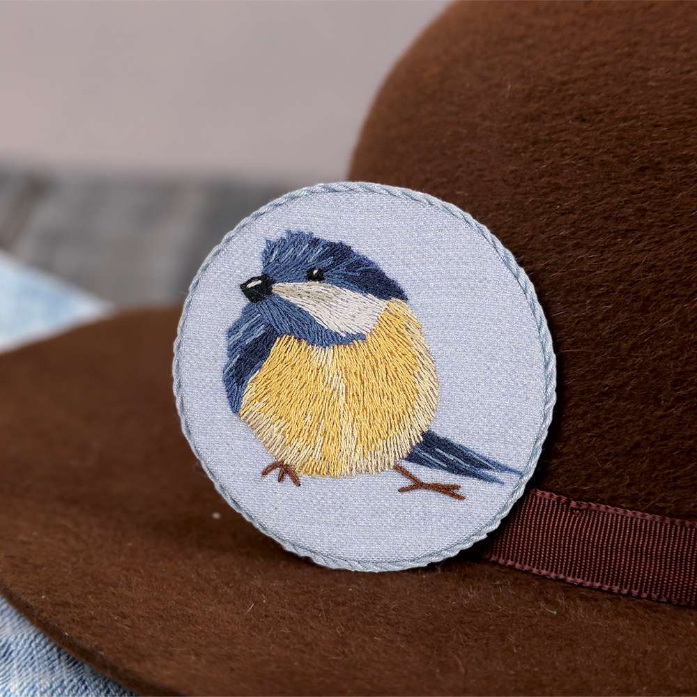 Embroidery kits PANNA Living Picture JK-2165 Blue Tit Brooch