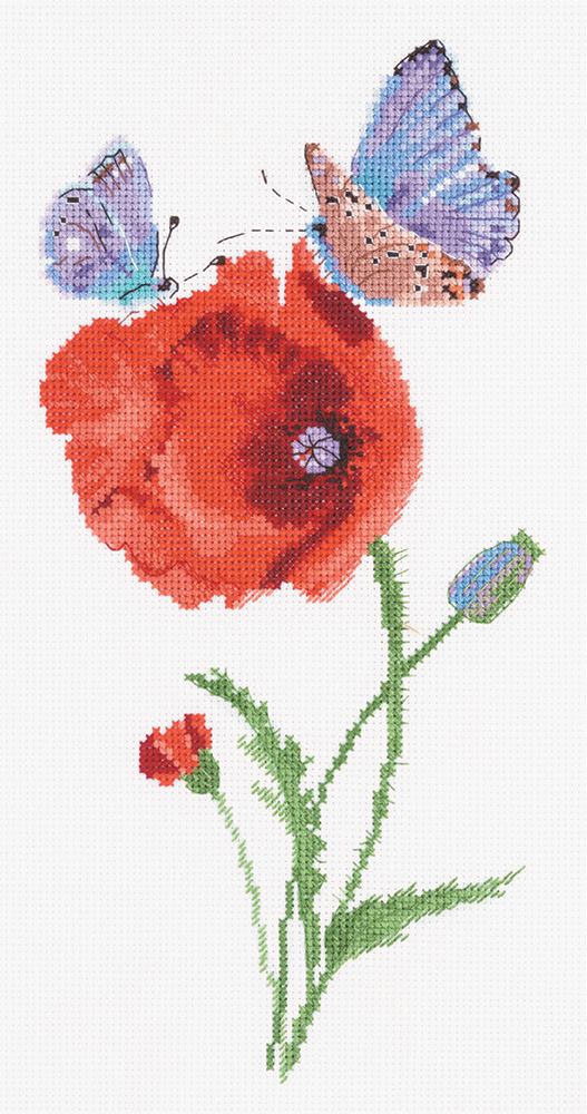 Embroidery kits PANNA PS-7033 Split Seconds of Summer. Butterflies