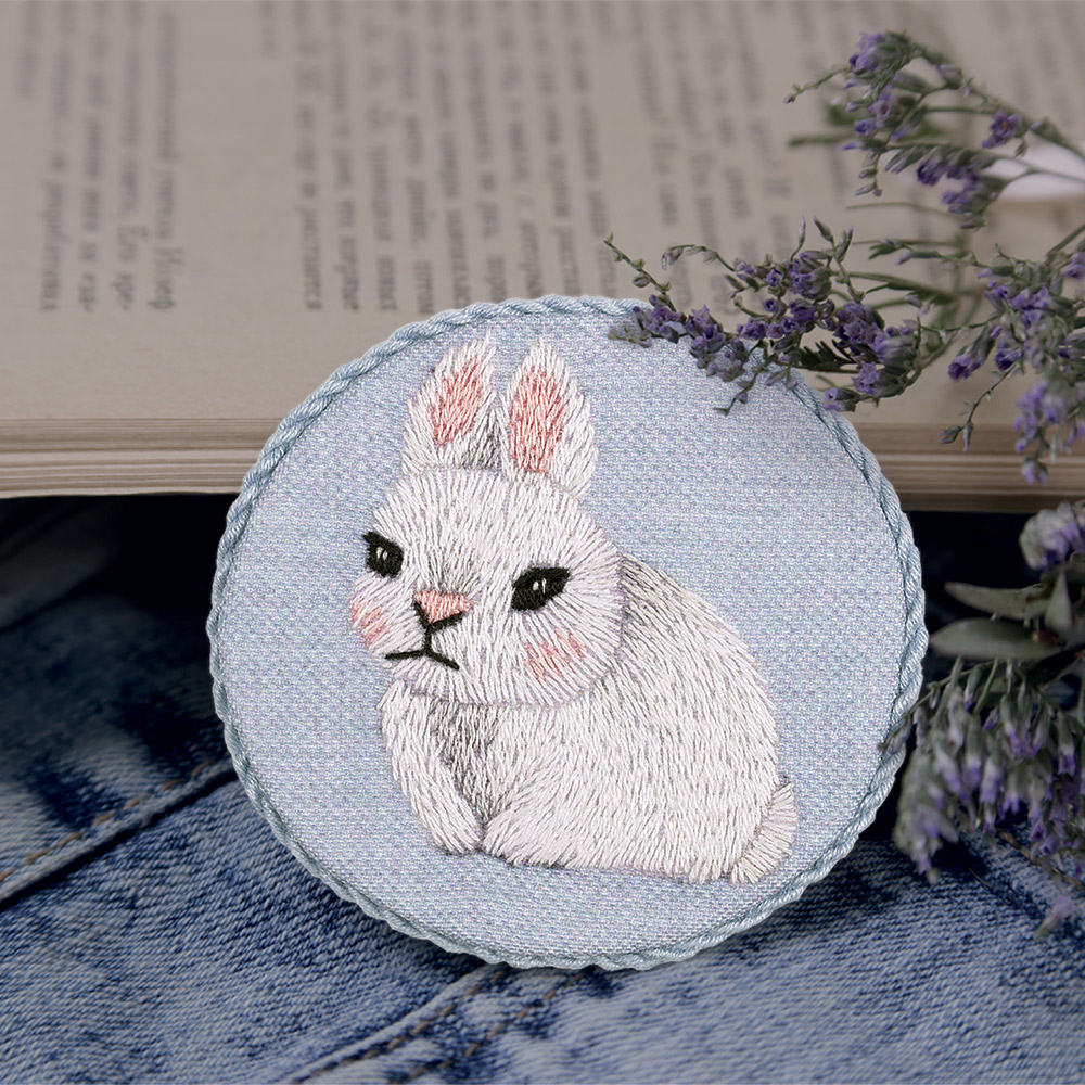 Embroidery kits PANNA Living Picture JK-2164 Baby Rabbit Brooch