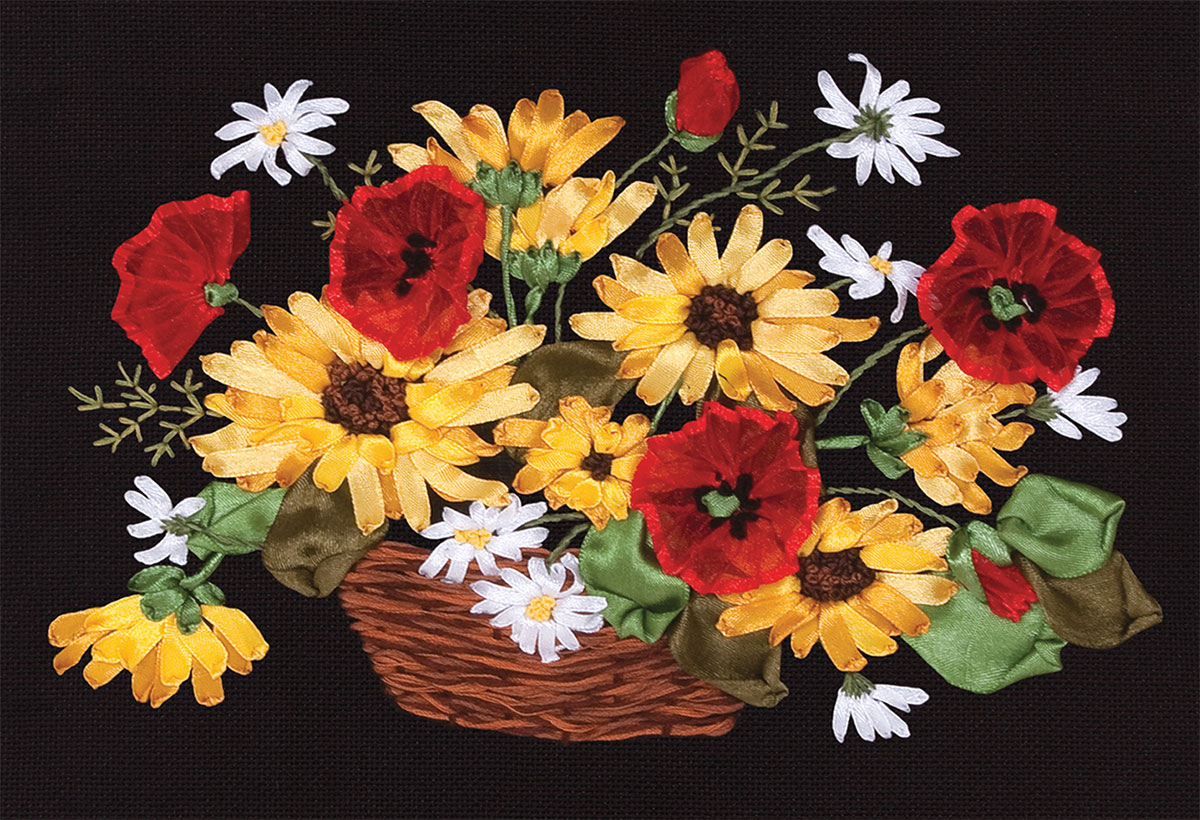 Embroidery kits PANNA C-1129 Rudbeckia and Poppies