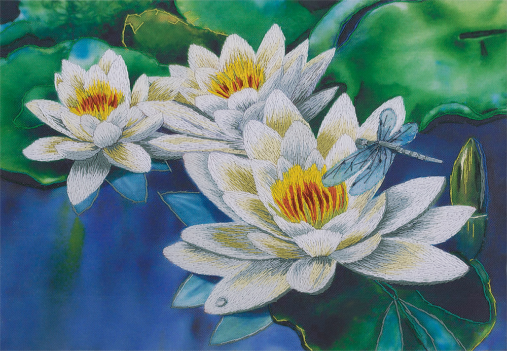 Embroidery kits PANNA Living Picture JK-2076 Gentle Lotuses