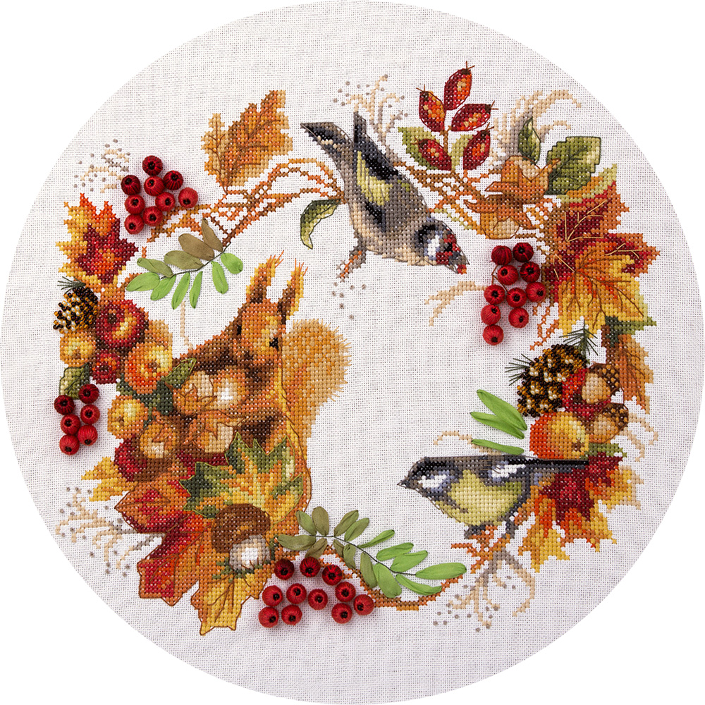 Embroidery kits PANNA PS-1615 Autumn Wreath