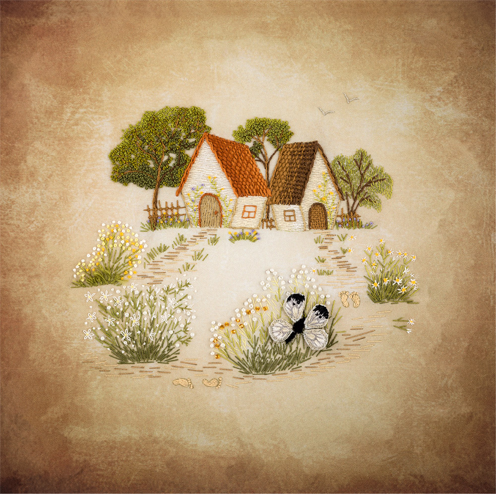 Embroidery kits PANNA Living Picture JK-2104 Cottages