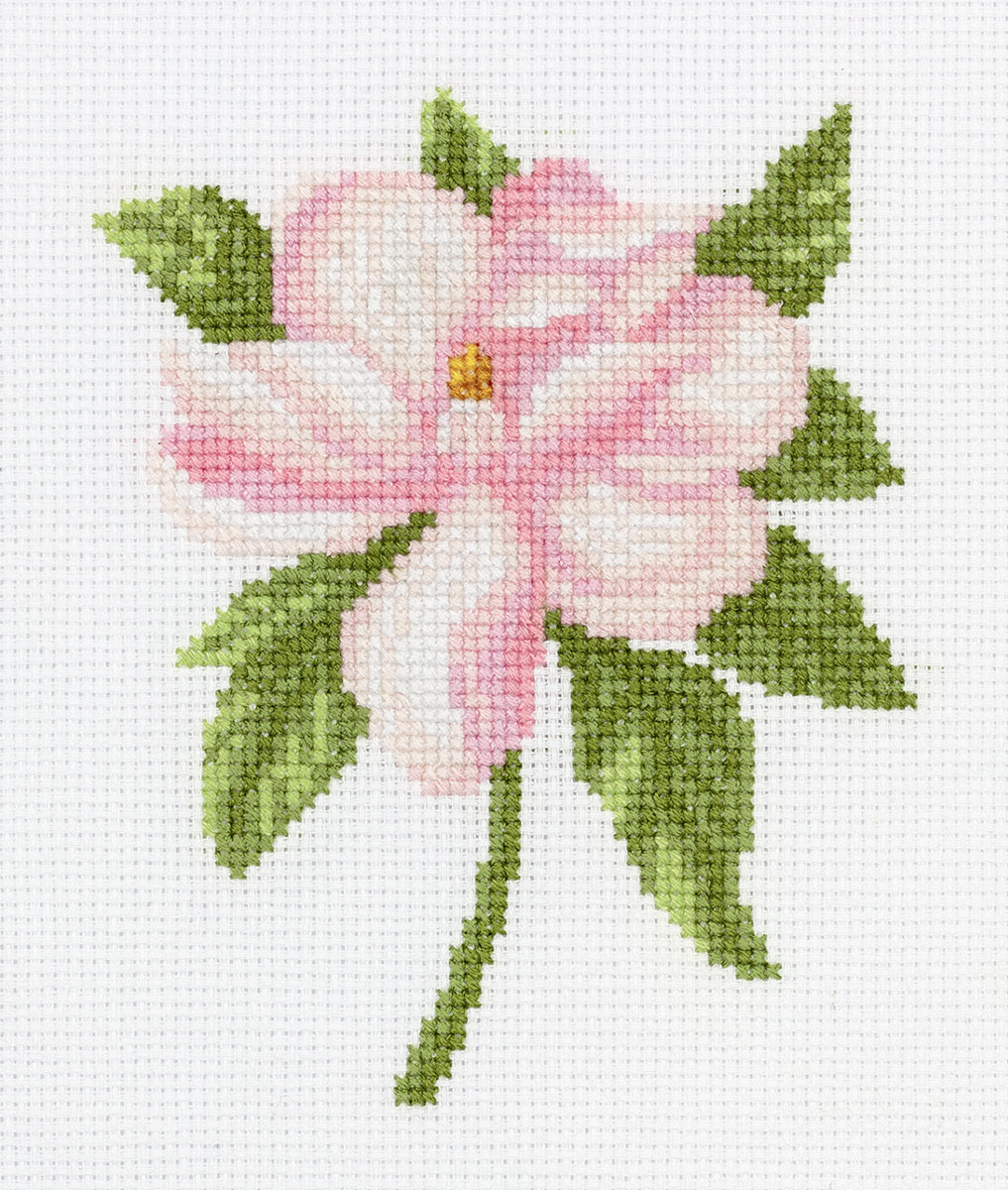 Embroidery kits PANNA 8-317 Pink Flower